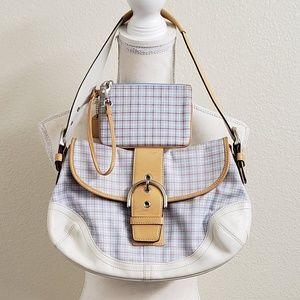 COACH - Tattersall Hampton Plaid Handbag Set